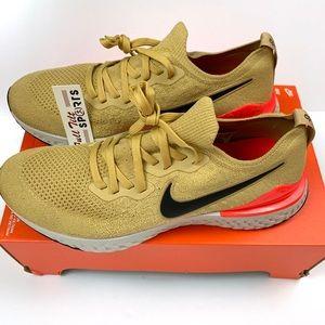 Nike Epic React 2 Flyknit Club Gold Sz 11.5